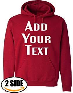 Amazon Com Men Custom Pullover Hoodie Design Your Own Hooded