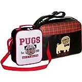 David   Goliath® Pug Bag Set  You So Pugly  Tartan Messenger Bag   6743c0f1ba71e
