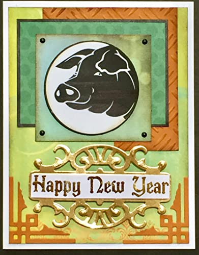 Amazon Com Chinese New Year Pig S Head Year Of The Pig 2019