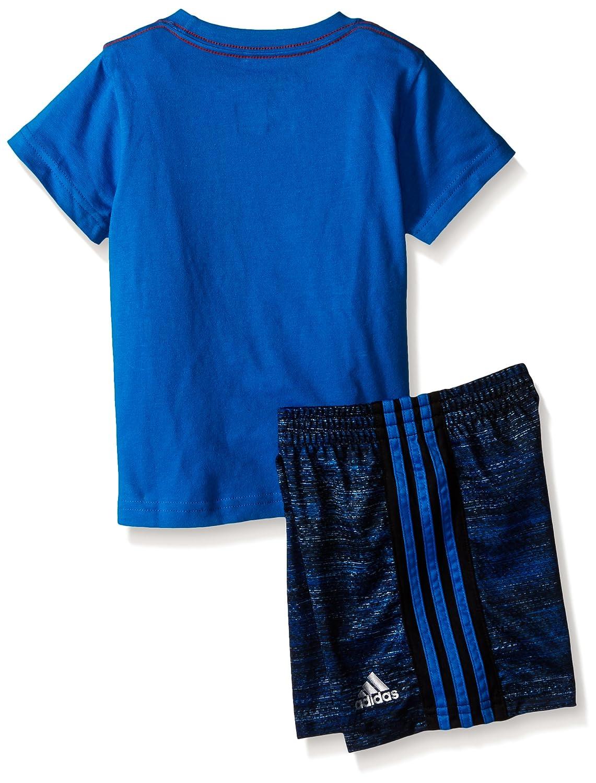 adidas Baby Boys Sleeve Tee and Short Set Adidas Boys 2-7 AG6045