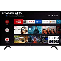 """SKYWORTH E20300 40"""" INCH 1080P LED A53 Quad-CORE Android TV Smart 40E20300 with Voice Control Smart Remote, 1mm Thin Bezel, and Android Operating System"""
