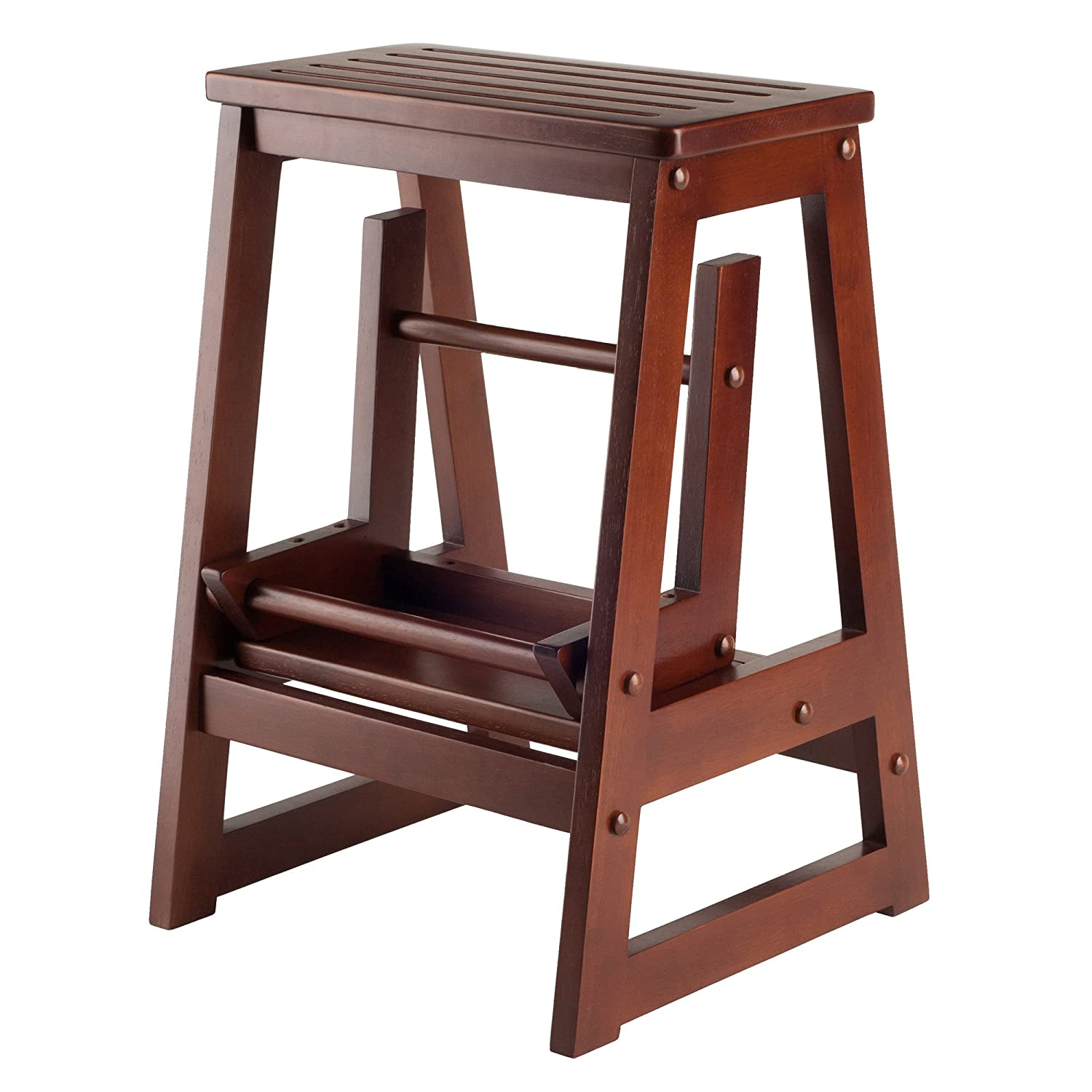 sc 1 st  Amazon.com & Amazon.com: Winsome Wood Step Stool Antique Walnut: Kitchen u0026 Dining islam-shia.org
