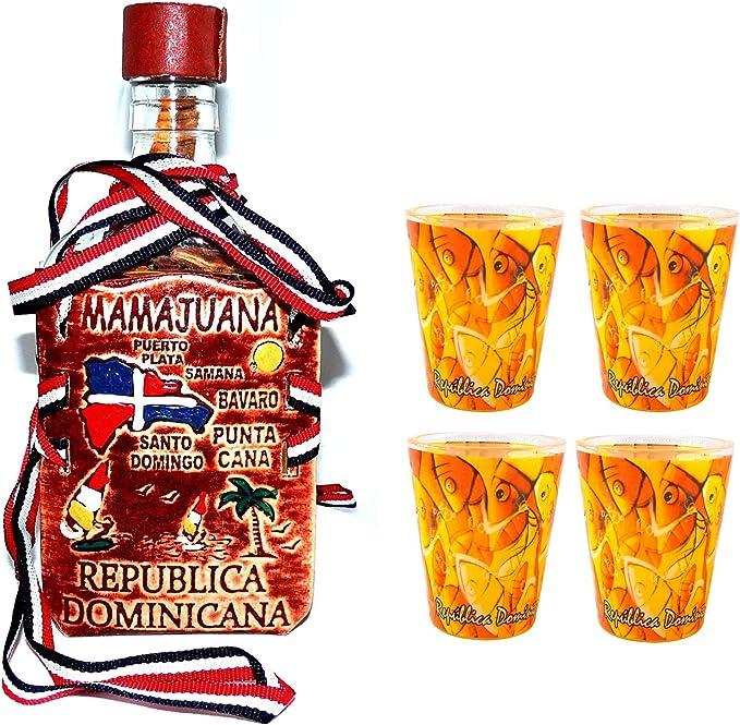 100% auténtico República Dominicana Mamajuana 325 ml decorativo Set
