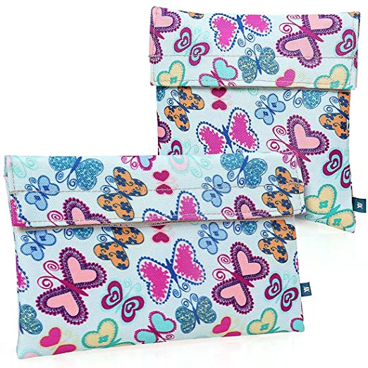 Ava & Kings 2 Pack On The Go Reusable Kids Snack Coolers - Butterflies
