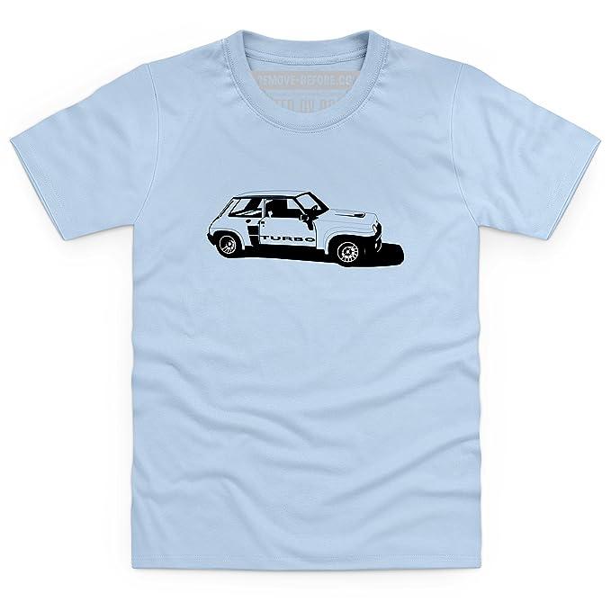 R5 Turbo High-Performance Hatchback Camiseta infantil, Para nios, Azul celeste, XS