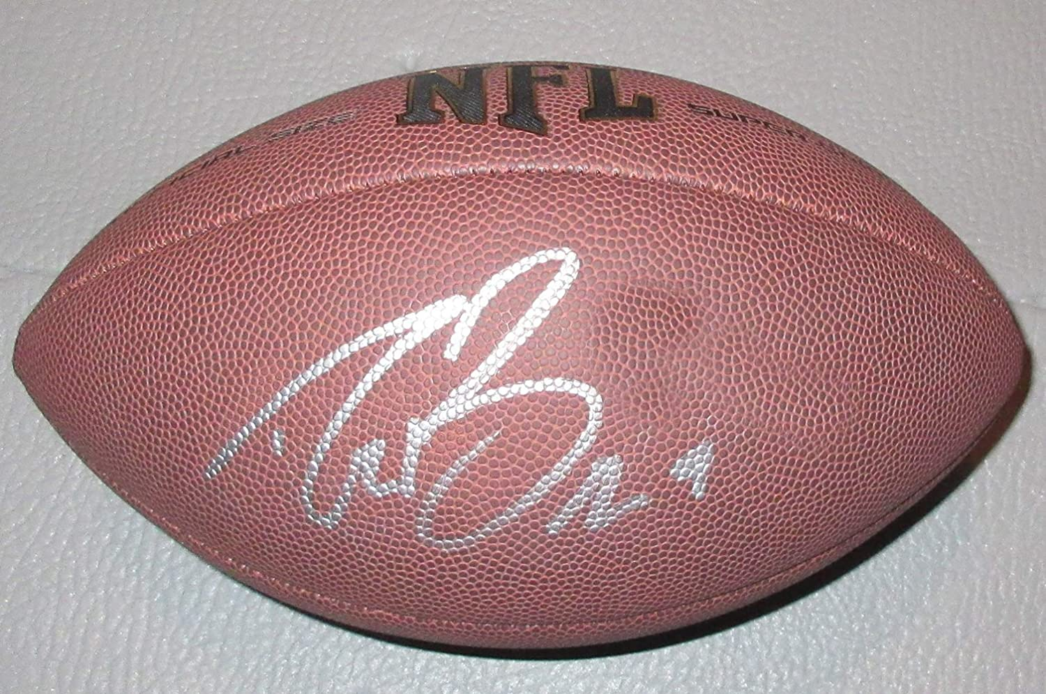 Drew Brees Autographed Wilson NFL Football W/PROOF, Picture of Drew Signing For Us, New Orleans Saints, Pro Bowl, Super Bowl Authentic_Memorabilia
