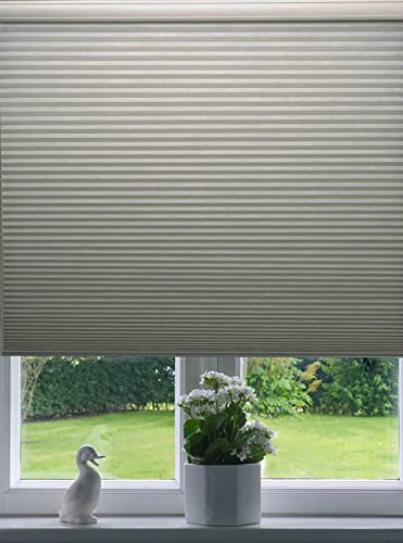 9 16 Single Cell Blackout Cordless Cellular Shades, Color Off White Rock, Size 41 W X 64 H