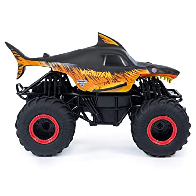 Monster Jam Fire & Ice Megalodon Special Edition 1/24th Scale RC Truck: Toys & Games