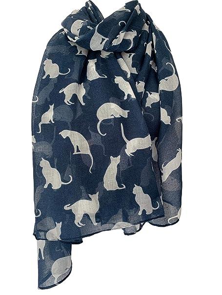 Purple Possum® Bufanda de Gato para Mujer con Estampado de ...