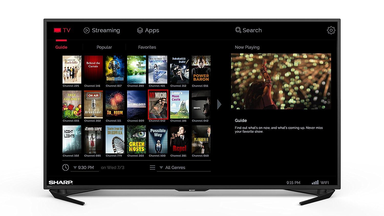 sharp 43 4k. amazon.com: sharp lc-55ub30u 55-inch 4k ultra hd smart led tv (2015 model): electronics 43 4k