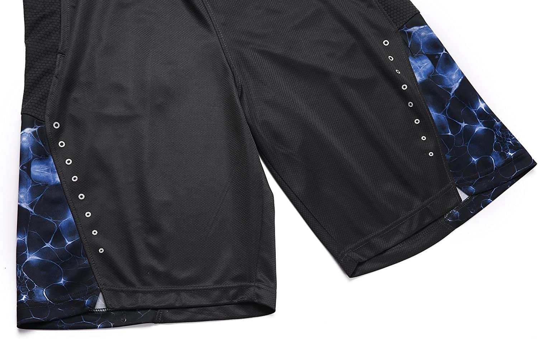 1Bests Hombres Corriendo Baloncesto Deportes Pantalones Cortos Thin Respirables Fitness Suelto Entrenamiento Corto con Bolsillo