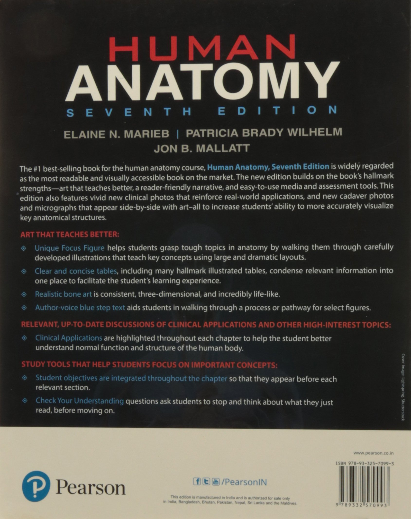 Human Anatomy, 7 Ed: Elaine N Marieb: 9789332570993: Amazon.com: Books