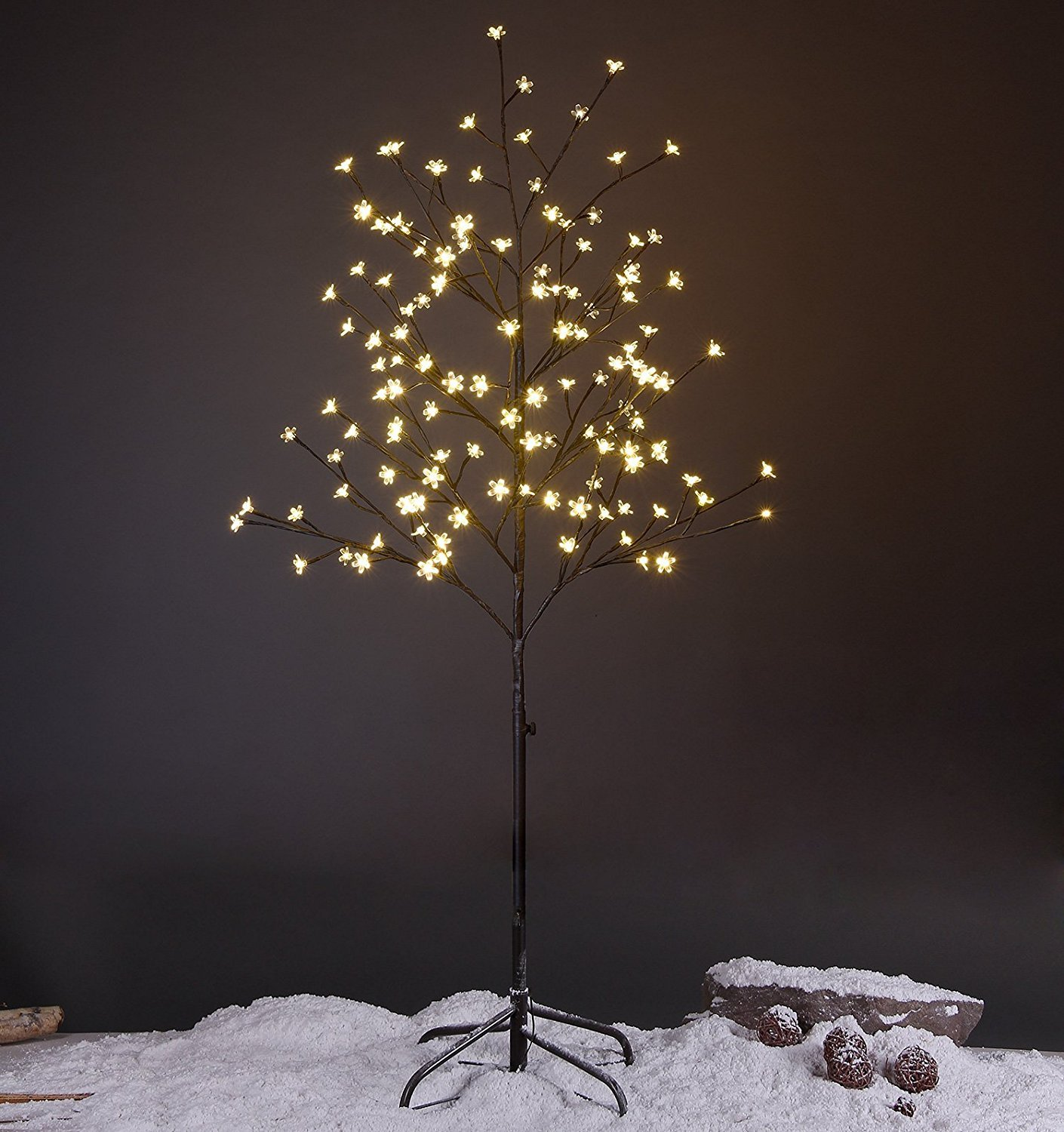Lightshare 5FT LED Star Light Tree, Warm Light, Brown XTHS5FT-WW