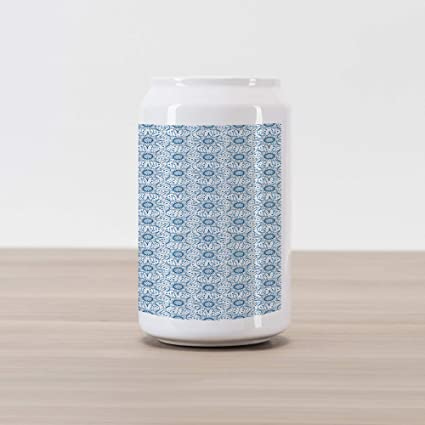 Dutch Design Bank.Amazon Com Ambesonne Blue And White Cola Can Shape Piggy Bank