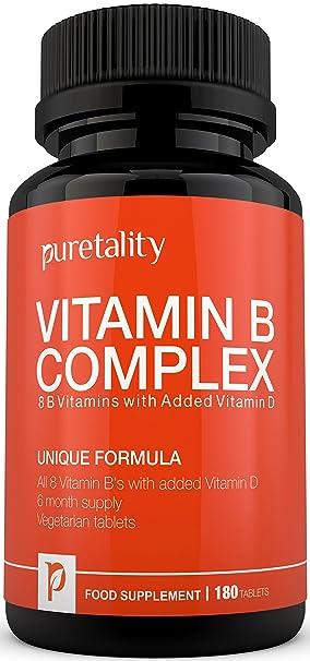 Complejo de Vitamina B 180 Comprimidos con Vitamina D (suministro para 6 meses) -