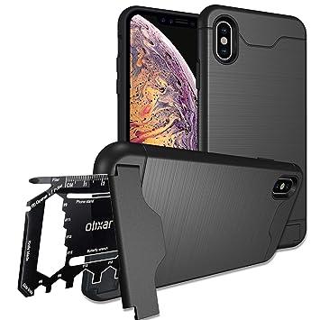 Olixar Funda iPhone XS MAX Multi-Herramienta/Tarjeta: Amazon ...