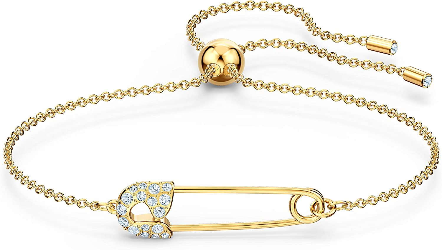 Swarovski So Cool Women's Pin Bracelet with Clear Swarovski Crystals on a  Gold-Tone Setting