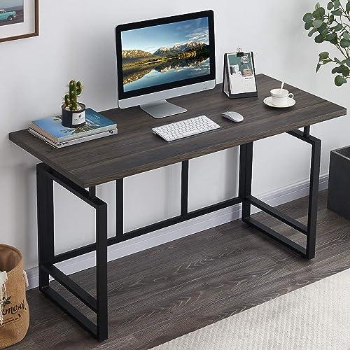 OIAHOMY Home Office Desk,Industrial Computer Desk 55 Large Rustic Office Desk Workstation Study Writing Desk Vintage Laptop Table
