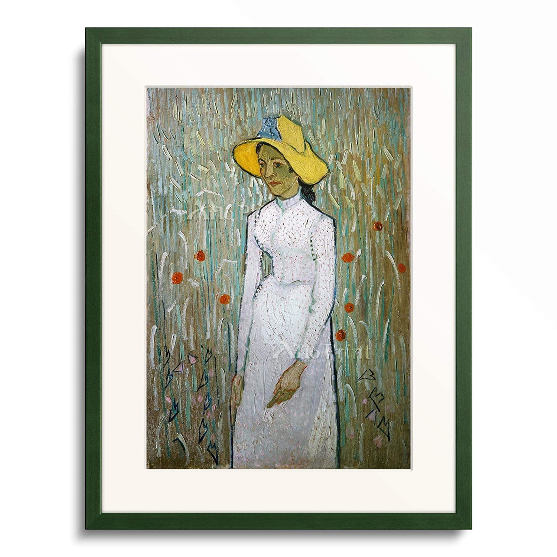 フィンセントファンゴッホ Vincent Willem van Gogh 「Girl in White」 額装アート作品 B07PD2N72M 12.木製額 13mm(緑) XL(額内寸 727mm×545mm) XL(額内寸 727mm×545mm) 12.木製額 13mm(緑)