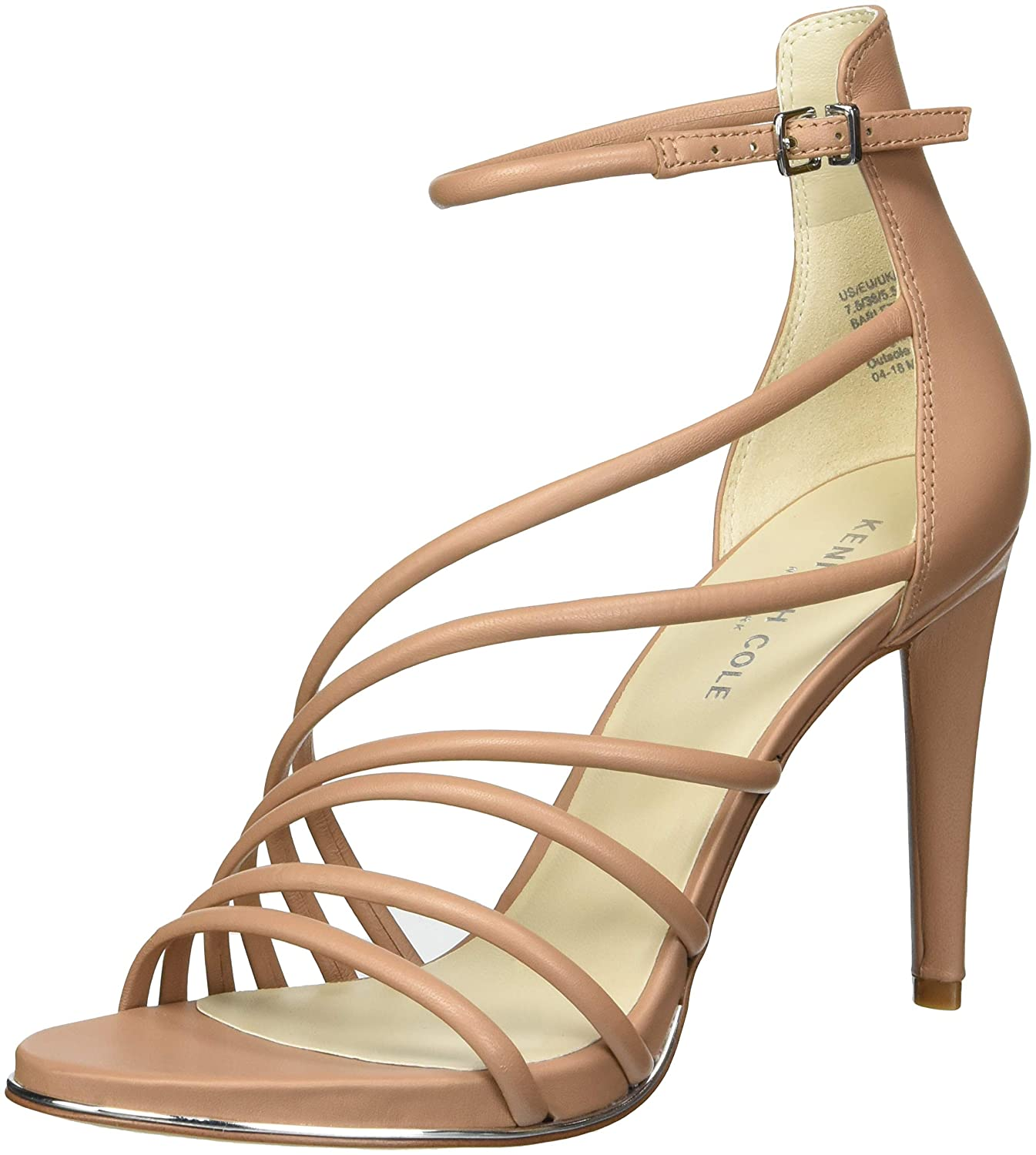 Kenneth Cole New York Wohommes Wohommes Barletta Strappy Sandal Heeled, Latte, 9 M US  service honnête