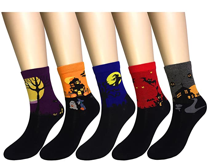 "Weilai Socks Womens Fashion Cute Design Colorful Antibacterial Breathable Dress Crew Socks by ""Weilai Socks """