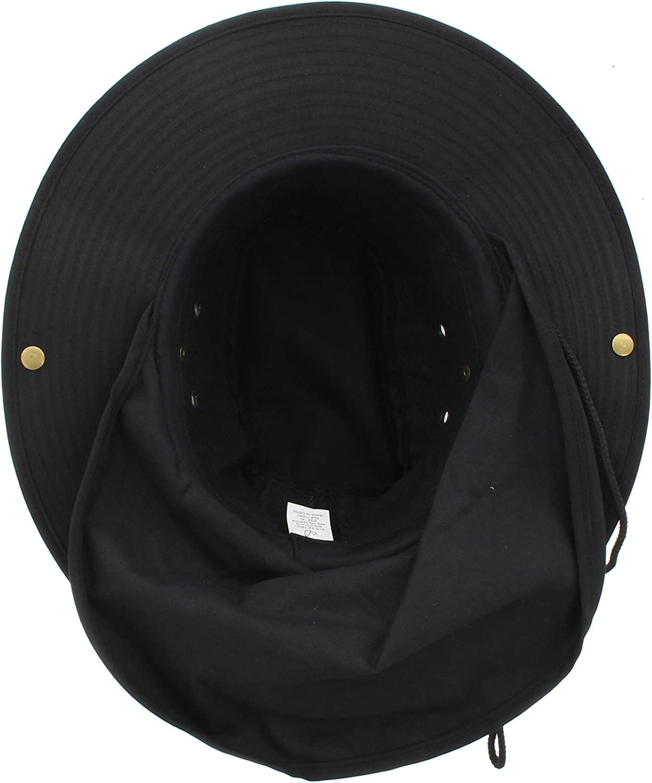 Wide Brim Outdoor Safari Summer Sun Hat with Neck Flap