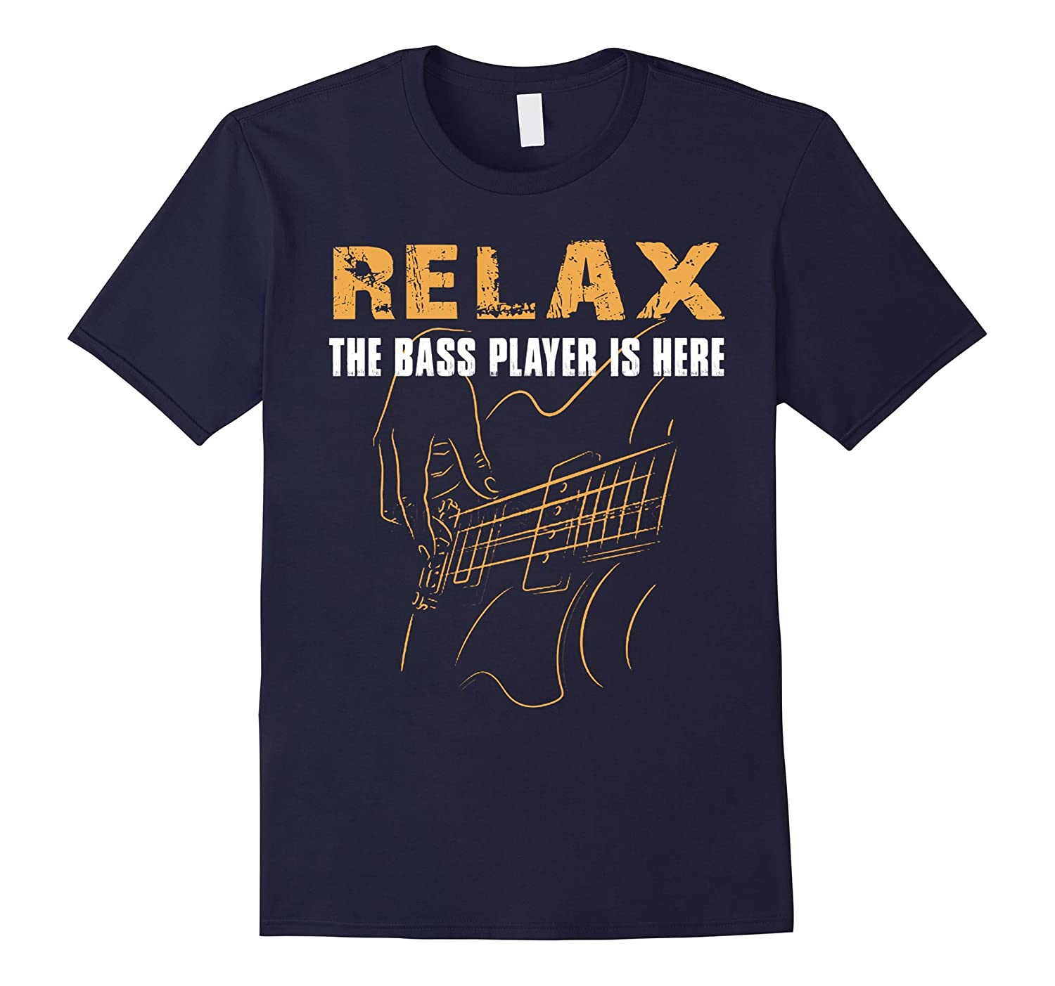 Bass Player T-shirt-Relax The Bass Player Is Here Funny Tee-FL