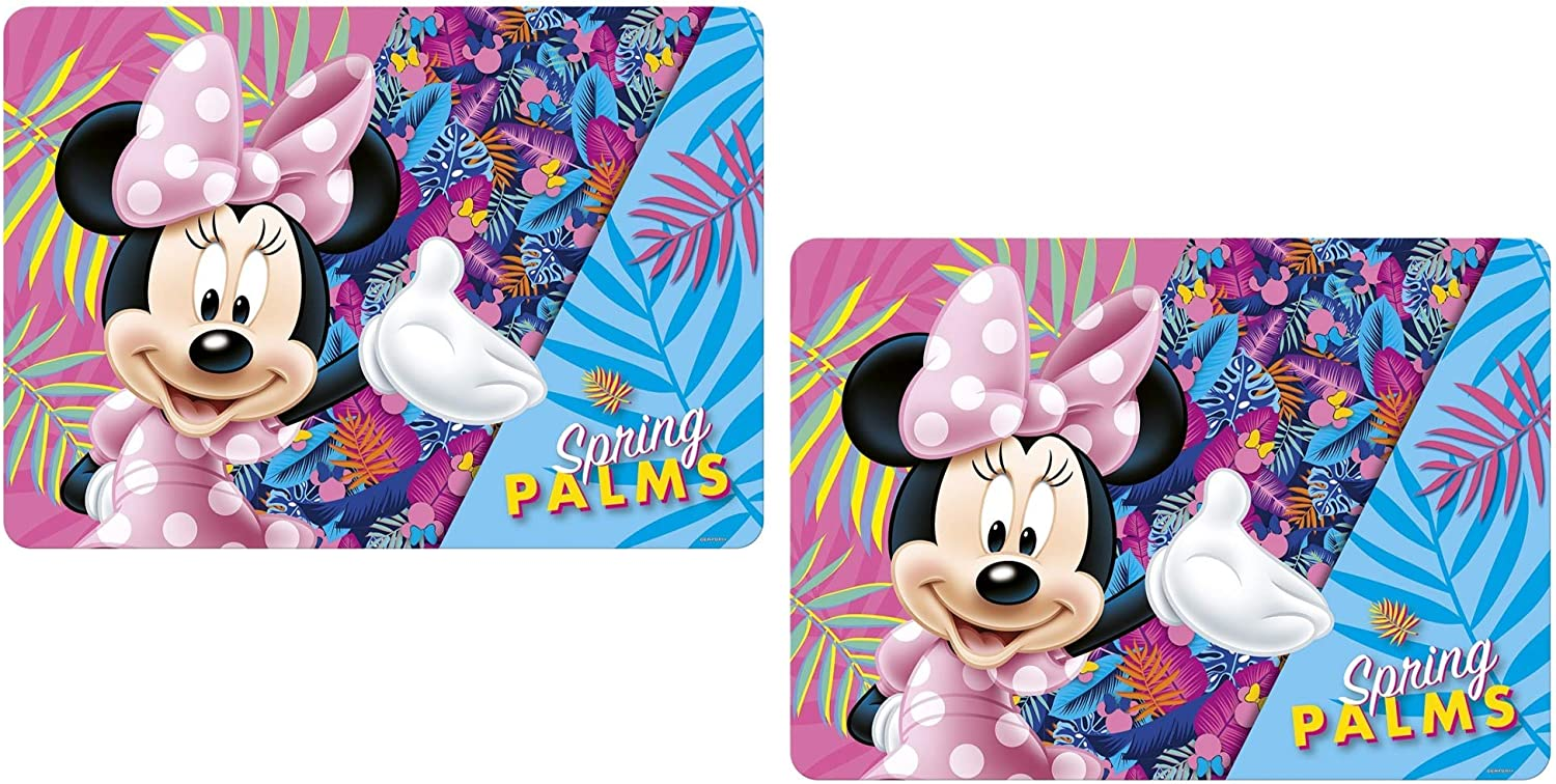 Disney Minnie Mouse – 2 mesa documentos/Juego mesa/mesa alfombrillas/Manteles individuales/essunterlage/Espacio Set/placemat de plástico lavable M02: Amazon.es: Hogar