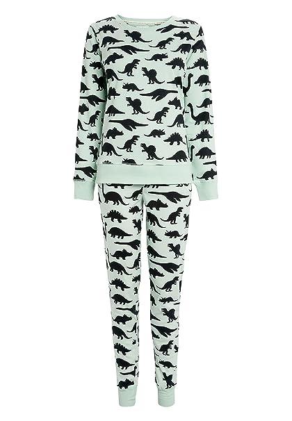 next Mujer Pijamas con Dinosaurios Menta XL