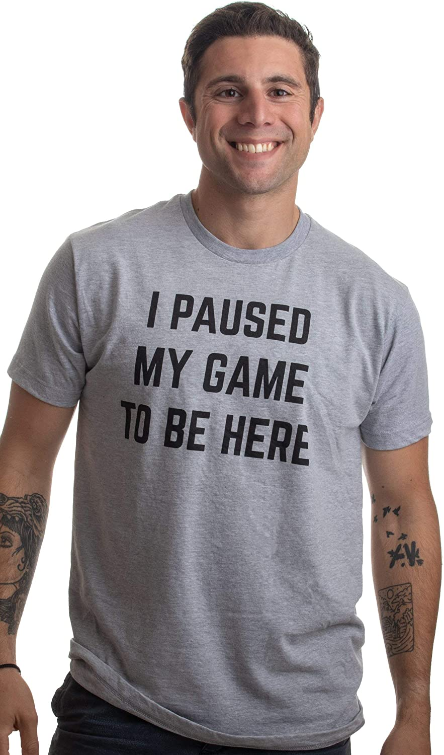 Mens T Shirt /& Baby Romper Matching Father Baby Gift Set We Paused Our Game to Be Here