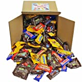 """Chocolate Variety Pack Fun Size Mix, All Your Favorite Chocolate Bars Individually Wrapped Assortment, Including M&M, Snickers, Skittles, Twix and More In 8"""" x 8"""" x 8"""" Bulk Box, 5 lbs"""