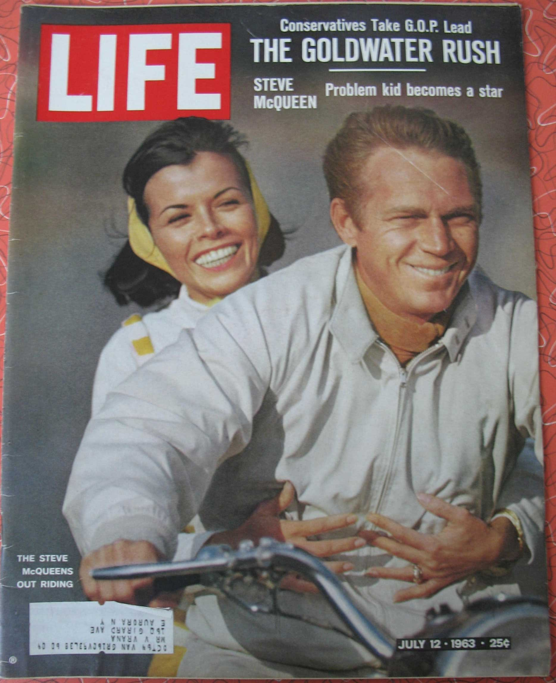 Life Magazine July 12 1963 Cover Steve Mcqueen And Wife Neile