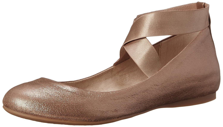 Jessica Simpson Women's Mandayss Ballet Flat B00WGASVH6 5.5 B(M) US|Sandbar/Gold