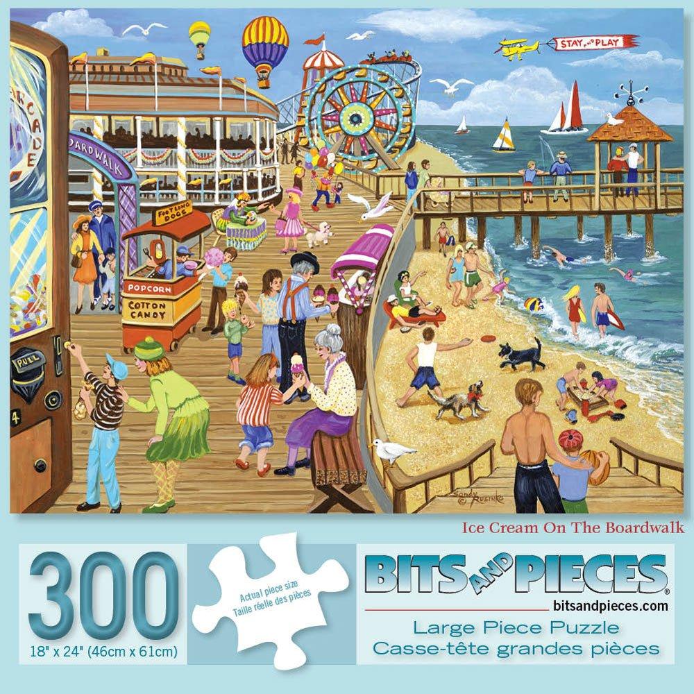 楽天 Bits 46cm for and Pieces - 500 Piece Piece Jigsaw Puzzle for Adults 46cm x 60cm - Ice Cream On The Boardwalk - 500 pc Summer Jigsaw by Artist Sandy Rusinko B07DGKH6RZ, ペットスタジオ:f0091d23 --- a0267596.xsph.ru