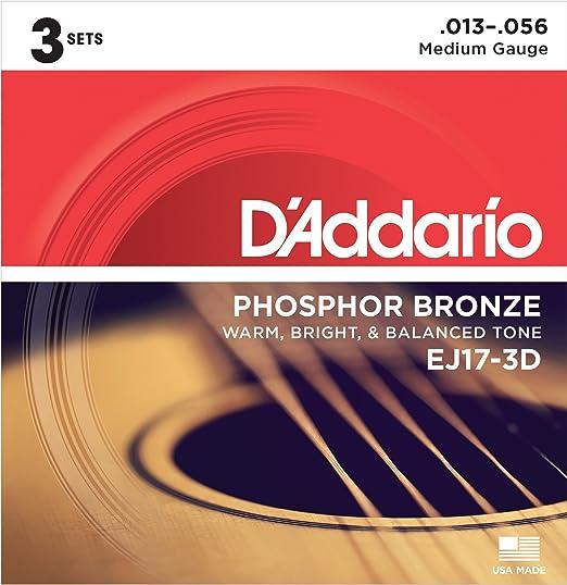 153 opinioni per D'Addario EJ17-3D Set Corde Acustica EJ Phosphor BRZ RND WND