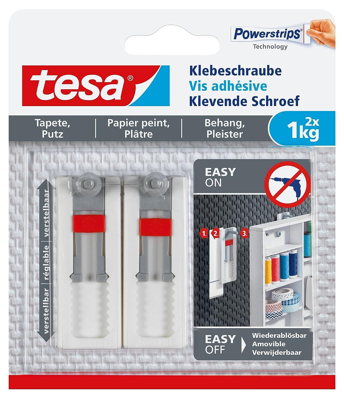 tesa Powerstrips Bildernagel, selbstklebend, weiß, 2 Stück: Amazon ...