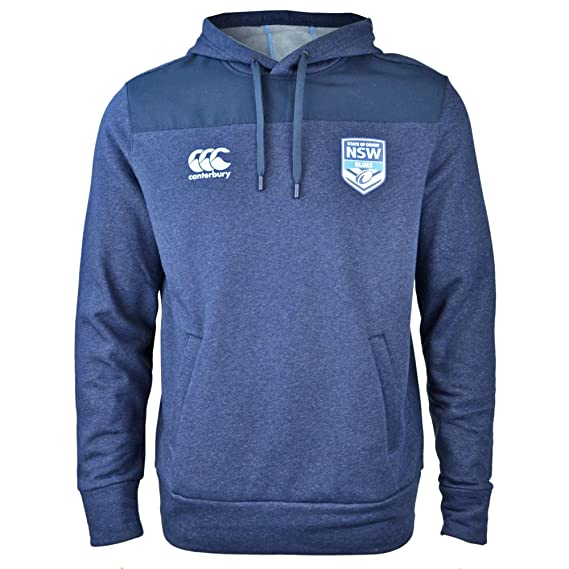 e99e73a3709 Canterbury NSW State of Origin 2018 Hooded Rugby Sweat - Rich Navy Marl:  Amazon.co.uk: Clothing