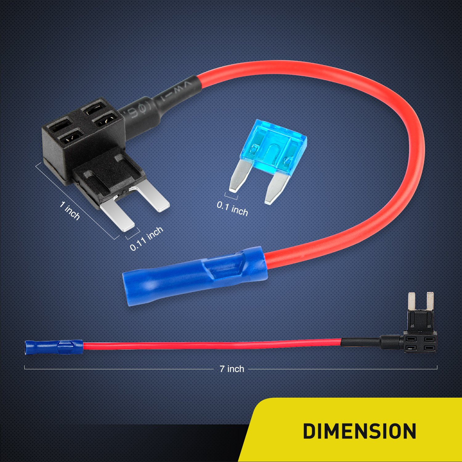 Nilight Ni Fh02 10 Pack 12v Car Add A Circuit Tap Adapter Mini Atm Addacircuit Blade Fuse Holder With 20a Medium Size Apm 2 Years Warranty Heat Shrink Tubing Industrial