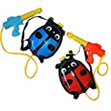 Kids Water Cannon Backpack - Ladybird Design (1 x Red & 1 x Blue)