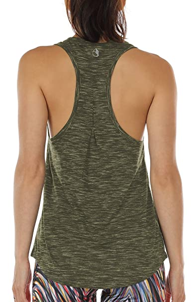 promo code ab700 5091b icyzone Workout Tank Tops for Women - Athletic Yoga Tops, Racerback Running  Tank Top,