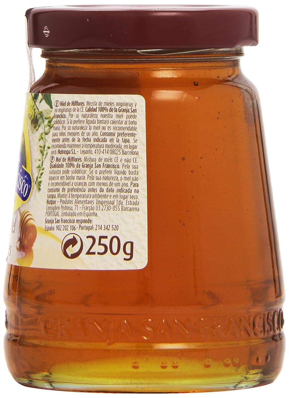 Granja San Francisco - Miel milflores - 250 g: Amazon.es: Alimentación y bebidas