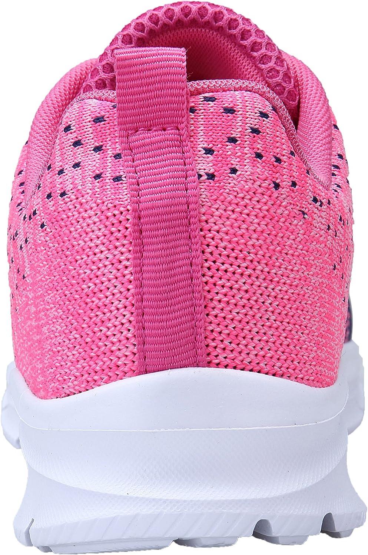 KOUDYEN Chaussures de Sport Course Homme Femme Basket Lacets Fitness Confortable Sneakers Trail Running Shoes Azzurro Rosa