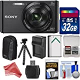 Sony Cyber-Shot DSC-W830 Digital Camera with 32GB Card + Battery + Charger + Case + Flex Tripod + DigitalAndMore Ultimate Accessory Kit