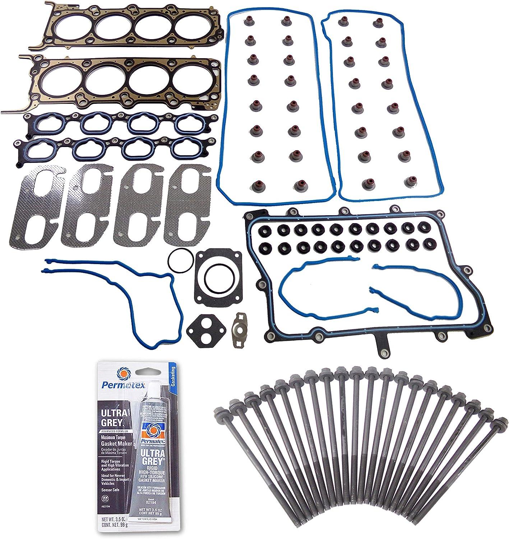03-04 Lincoln Aviator 4.6L V8 DOHC 32v INTECH VIN H Head Gasket Set Bolt Kit Fits