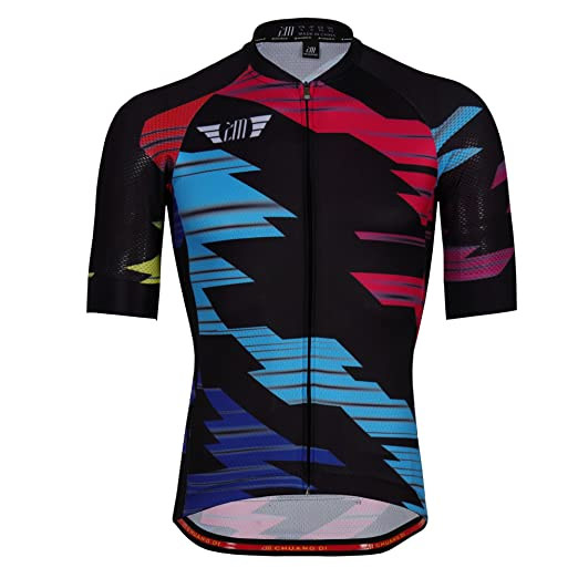 a154d7a7a Image Unavailable. Image not available for. Color  Men s Cycling Jerseys  Biking Shirts Short Bike Clothing Full Zip ...