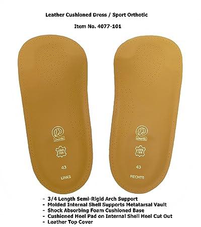 79bf912281 Emsold Cushioned Dress Sport Orthotic – Thin 3/4 Length Semi-Rigid Arch  Support