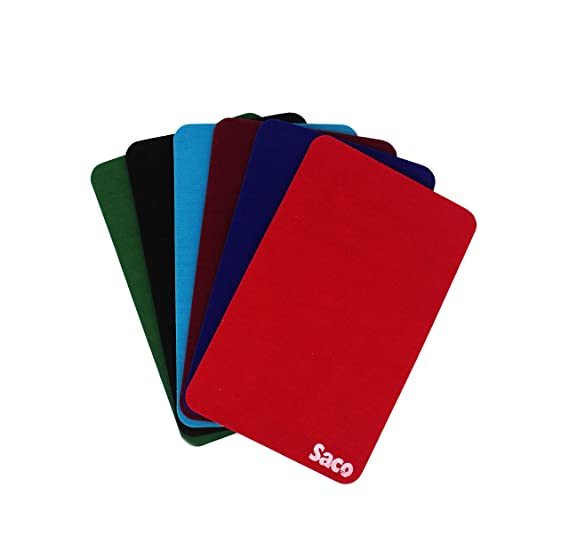 Saco Non Skid Velvet Fabric with Smooth Surface Gaming Mini Mouse pad Combo 6 Colors Mouse Pads