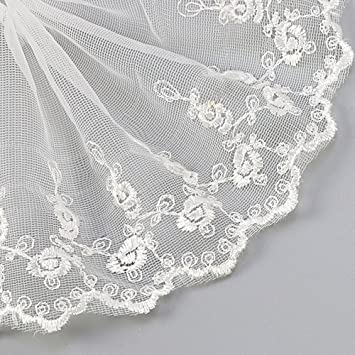 Anjing 15 Yard Floral Lace Trim Bestickte Stoffapplikationen