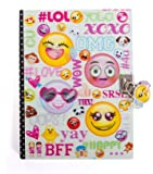 """Hot Focus Emoji Secret Diary with Lock – 7"""" Journal Notebook with 300 Double Sided Lined Pages, Padlock and Two Keys for Kids"""