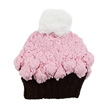 Amazon.com  Bella Cupcake Hand Knit Hat (X-Small 3-12 months eb94f095f47